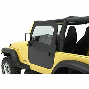 Bestop Half Doors Set Of 2 Front New For Jeep Wrangler 1997 2006 Pair 51793 35