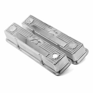 Holley Set Of 2 Valve Covers New Polished Coupe Pontiac Ventura 241 82