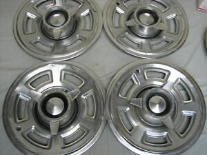 1965 Pontiac Gto Factory 15 Spinner Hubcaps Lemans Tempest