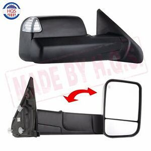 L r Tow Mirrors Power Heated Led Signal For 02 08 Dodge Ram 1500 03 09 2500 3500