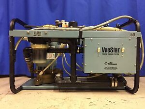 Air Techniques Vacstar 50 Dental Dual 2 Pump Wet Vacuum Suction 2x1hp 3 4 User