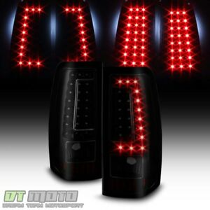 Black Smoke 2003 2006 Chevy Silverado 1500 2500 3500 Led Tail Lights Brake Lamps