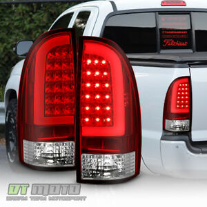 For 2005 2015 Toyota Tacoma Red Lens Led Tube Tail Lights Lamps 05 15 Left Right