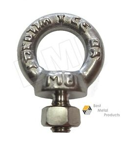 12 316 Stainless Steel Lifting Eye Bolt M8 With Nut Machine Lifting 1200102