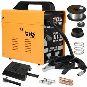 Goplus Mig 130 Welder Flux Core Wire Automatic Feed Welding Machine W Free Mask