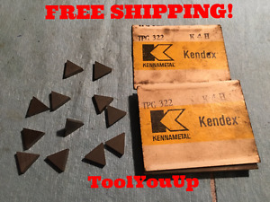 12pcs New Kennametal Tpg 322 K4h Inserts Cnc Tooling Shop Machinist Tools