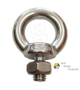 12 316 Stainless Steel Lifting Eye Bolt M10 With Nut Machine Lifting 1200103