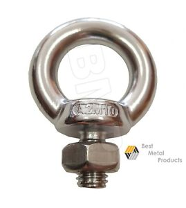 20 316 Stainless Steel Lifting Eye Bolt M10 With Nut Machine Lifting 1200103