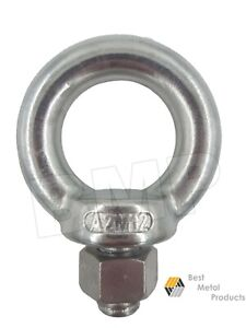 12 316 Stainless Steel Lifting Eye Bolt M12 With Nut Machine Lifting 1200104