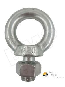 2 316 Stainless Steel Lifting Eye Bolt M20 Machine Lifting 1200105