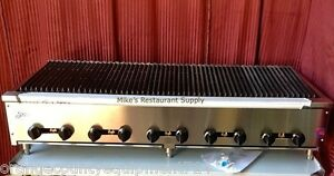New 72 Lava Rock Char Broiler Grill Gas Stratus Scb 72 4507 Commercial Nsf Bbq