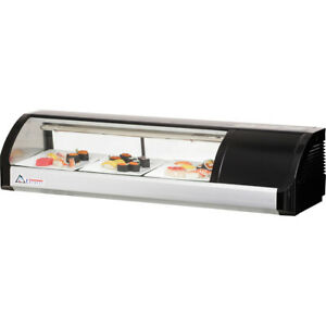 New 47 Sushi Case Counter Top Display Everest Esc47 3214 Sashimi Curved Glass