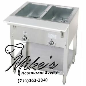 New 2 Well Gas Steam Table Wet Bath Duke Wb302 Commercial Nsf 4666 Food Aerohot