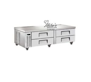 New 72 4 Drawer Equipment Chef Base Cooler Saba Scb 72 4462 Refrigerated Stand
