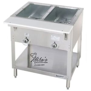 New 2 Well Gas Steam Table Dry Bath Duke 302 Commercial 4665 Aerohot Nsf Food