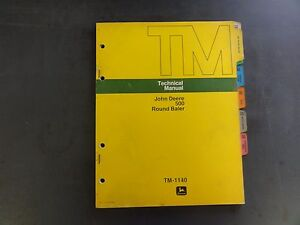 John Deere 500 Round Baler Technical Manual Tm 1140