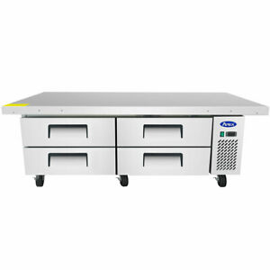 New 76 4 Drawer Nsf Refrigerated Chef Base Atosa Mgf8454 4711 Equipment Stand
