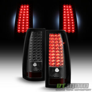 Smoke 1999 2002 Chevy Siverado Gmc Sierra Led Tail Lights Brake Lamps Left Right
