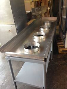 102 Shrimp Seafood Processing Table Stainless Industrial Farming Sorting