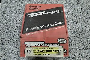 New Forney partial Roll 30ft 52023 Welding Cable 2 gauge 30awg 665 Strand