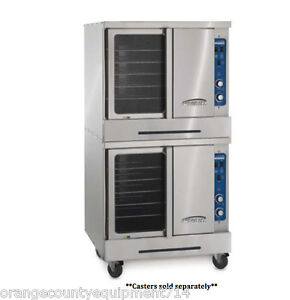 New Double Deck Gas Convection Oven Imperial Icv 2 4560 Commercial Nsf Bakery
