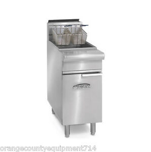 New 75 Lb Gas Deep Fryer Open Pot Stainless Steel Imperial Ifs 75op Nsf 4570