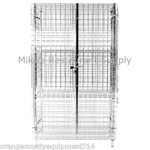 New 24 X 60 Security Cage Storage W Racks 3518 Locking Liquor Wine Nsf