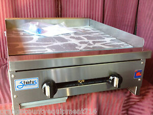 New 24 Flat Top Grill Gas Stratus Smg 24 1119 Commercial Restaurant Griddle