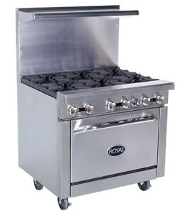 New 36 6 Burner Range Oven Base Royal Rr 6 1187 Commercial Restaurant Stove