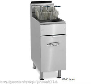 New 50 Lb Gas Deep Fryer Open Pot Stainless Steel Imperial Ifs 50op 4566 Nsf