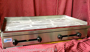 New 48 Griddle Flat Top Grill Gas Stratus Smg48 1225 Commercial Plancha Nsf