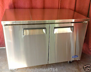 New 48 2 Door Under Counter Refrigerator Atosa Mgf8402 2315 Commercial Nsf