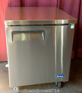 New 1 Door Under Counter Cooler Atosa Mgf8401 1017 Commercial Refrigerator Nsf