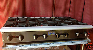 New 48 8 Burner Hot Plate Cook Top Gas Stratus Shp 48 8 1236 Commercial Stove