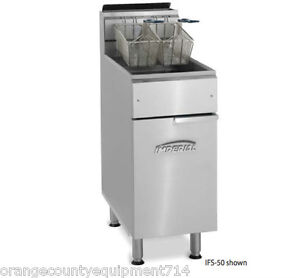 New 50 Lb Electric Deep Fryer Stainless Steel Pot Imperial Ifs 50e 4567 Floor