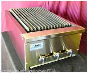 New 18 Radiant Charbroiler Grill Gas Or Lp Stratus Srb 18 1065 Commercial Nsf