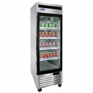 New 1 Glass Door Upright Cooler Atosa Mcf8705 1032 Commercial Refrigerator Nsf