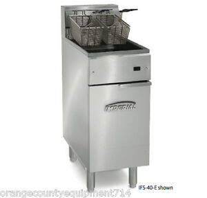 New 40 Lb Electric Fryer Immersed Element Stainless Steel Imperial Ifs 40e 4563