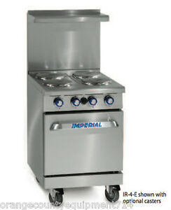New 24 4 Burner Electric Range Standard Oven Imperial Ir 4 e 4581 Restaurant