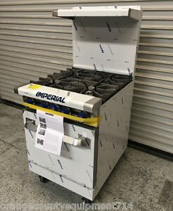 New 24 4 Burner Gas Range Standard Oven Imperial Ir 4 4580 Commercial Nsf