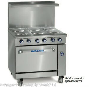 New 36 6 Burner Electric Range Standard Oven Imperial Ir 6 e 4573 Restaurant