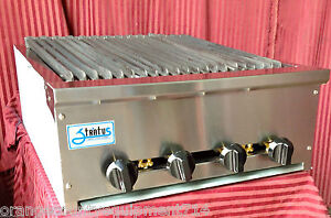 New 24 Radiant Char Broiler Gas Grill Nsf Stratus Srb 24 1122 Commercial Bbq