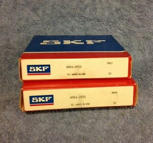 New Skf 6014 2rs1 Bearings lot Of 2 Bearings Factory Packaging