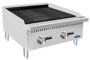 New 24 Rock Charbroiler Gas Grill Atosa Atcb 24 2543 Commercial Restaurant