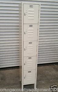 New 5 Door Employee Locker Allstrong Els 5dr 2317 Security Storage Bins