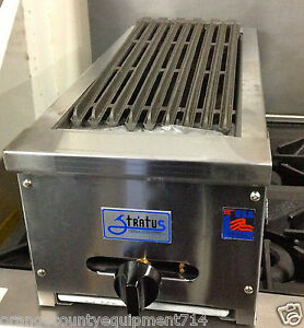 New 12 Radiant Char Broiler Grill Gas Or Lp Stratus Srb 12 1051 Commercial Nsf