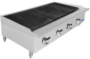 New 48 Lava Rock Char Broiler Grill Atosa Atcb 48 2545 Commercial Bbq Steak