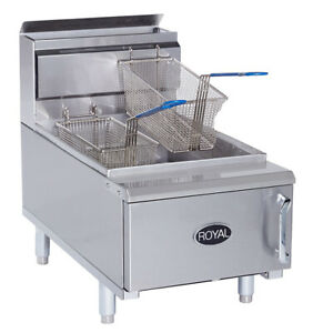 New Counter Top Fryer Propane Lp 25lb Royal Rcf 25 2944 Commercial Nsf Deep Fat