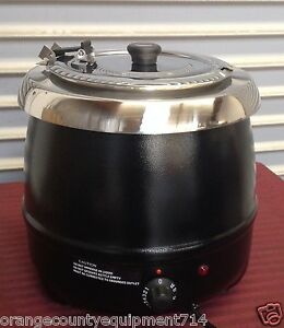 New 10l Soup Kettle Warmer Black Metal Atosa At51588 2094 Chili Cheese Nsf