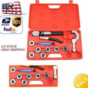 7 Lever Hvac Hydraulic Copper Tube Tool Set Expander Tool Hand Swaging Kit New